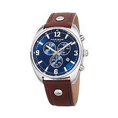 Akribos XXIV Men's Leather Chronograph Watch - AK969BRBU