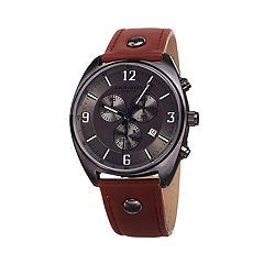 Akribos XXIV Men's Leather Chronograph Watch - AK969GN