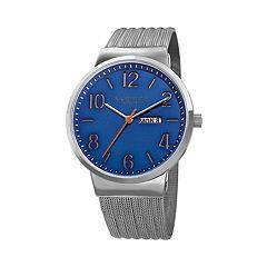 Akribos XXIV Men's Stainless Steel Mesh Watch - AK996SSBU