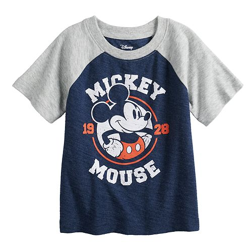 Disney's Mickey Mouse Baby Boy Raglan Softest Graphic Tee by Jumping Beans®