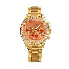 August Steiner Women's Gold Tone Stainless Steel Pink Dial Wrapped Watch