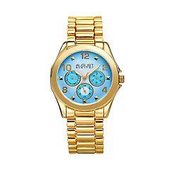 August Steiner Women'sGold Tone Blue Dial Watch