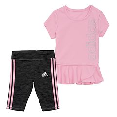 Girls 4-6x adidas Peplum-Hem Tunic & Capri Leggings Set