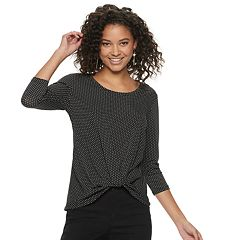 Juniors' Candie's® Knot Front Top