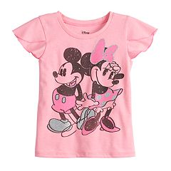 f87dc7fed764 Disney s Minnie   Mickey Mouse Toddler Girl Graphic Tee by Jumping Beans®