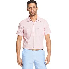 Men's IZOD Saltwater Dockside Chambray Classic-Fit Button-Down Shirt