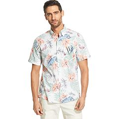 Men's IZOD Saltwater Dockside Chambray Classic-Fit Patterned Button-Down Shirt