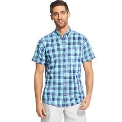 Men's IZOD Saltwater Dockside Chambray Classic-Fit Plaid Button-Down Shirt