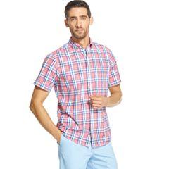 Men's IZOD CoolFX Breeze Classic-Fit Plaid Button-Down Shirt