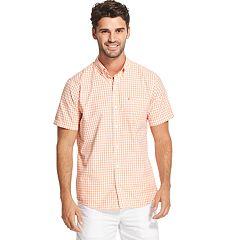 Men's IZOD Breeze Cool FX Classic-Fit Gingham Button-Down Shirt