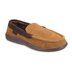 Men's Chaps Wide Width Suede Venetian Moccasin Slippers