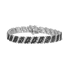 Sterling Silver 1 Carat T.W. Black Diamond Bracelet