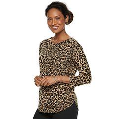 Women's Croft & Barrow® Pintuck Curved Hem Sweater