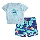 Toddler Boy Hurley T-Shirt & Board Shorts Set