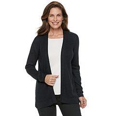 d700d67ed5 Women s Croft   Barrow® Essential Textured Open-Front Cardigan. Mineral Black  Light Pink