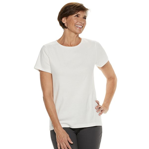 5-Pack Croft & Barrow Womens Essential Crewneck Tee