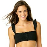 Juniors' California Sunshine Smocked Bikini Top