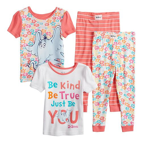 Toddler Girl Dr. Suess Horton Hears A Who Tops & Bottoms Pajama Set