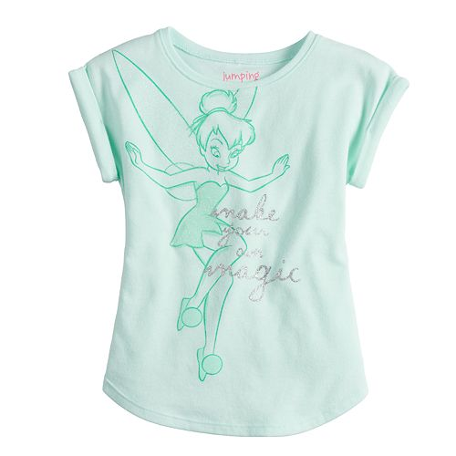 """Disney's Tinkerbell """"Make Your Own Magic"""" Graphic Tee by Jumping Beans®"""