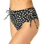 Juniors' California Sunshine Lace Up High-Waisted Bikini Bottoms