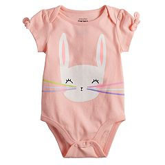 Baby Girl Jumping Beans® Graphic Bow Bodysuit