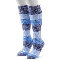 Women's Columbia 2-pk. Striped Knee-High Socks