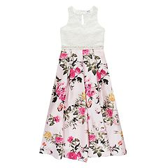 Girls 7-16 Speechless Lace & Floral Maxi Dress