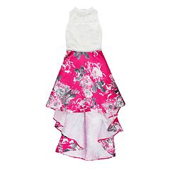 Girls 7-16 Speechless Floral Print High Neck Dress