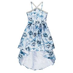 Girls 7-16 Speechless Y-Neck Floral High-Low Dress