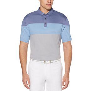 Men's Grand Slam Soft Touch DriFlow Regular-Fit Striped Performance Golf Polo