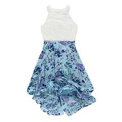 Girls 7-16 Speechless Lace Floral Fit & Flare Dress