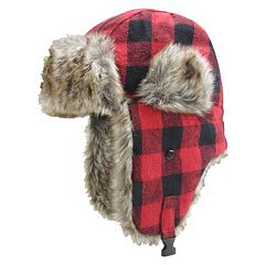 Boys Igloo Buffalo Check Trapper Hat