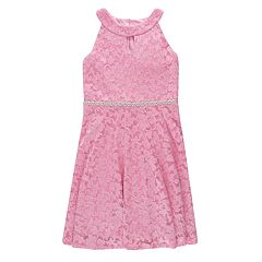 Girls 7-16 Speechless Keyhole Lace Fit & Flare Dress
