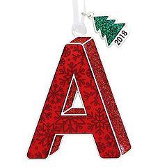 Snowflake Monogram 3-D Christmas Ornament