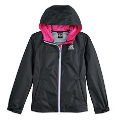 0d417fd3480 Girls 7-16 Zero Xposur Kelly Rain Jacket
