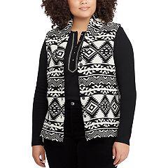 Plus Size Chaps Southwestern Print Vest