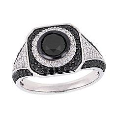Stella Grace 10k White Gold 1 3/4 Carat T.W. Black & White Diamond Ring