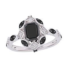 Stella Grace 10k White Gold 1 1/4 Carat T.W. Black & White Diamond Ring