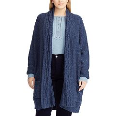 Plus Size Chaps Cotton-Blend Shawl Cardigan