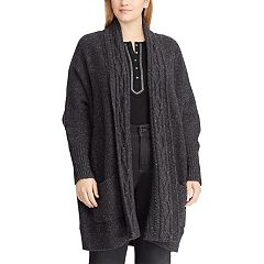 Plus Size Chaps Cotton-Blend Shawl Cardigan