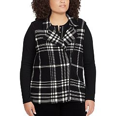 Plus Size Chaps Sweater Vest