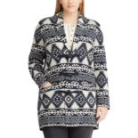 Plus Size Chaps Southwestern Print Toggle Sweater Jacket