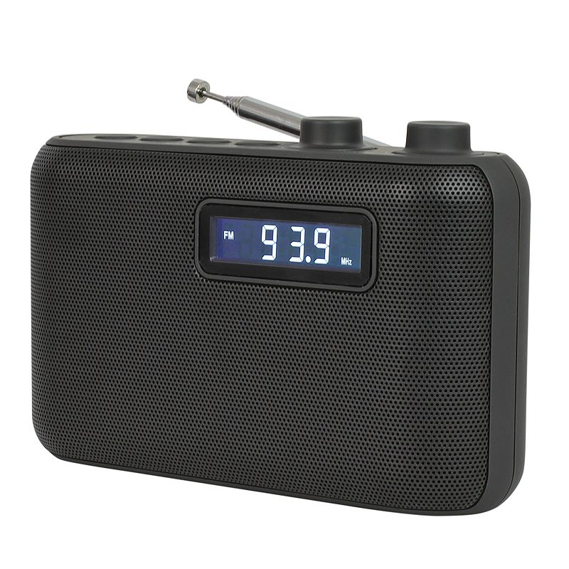 Jensen Portable AM/FM Digital Radio Catch the latest news, sports and music with this Jensen portable AM/FM radio AM/FM receiver with 10 AM & 10FM presets Digital LCD display with backlight Digital volume control Rotary telescopic antenna Dual alarm clock with snooze, nap and sleep function Wake to radio or alarm 4.09 H x 6.3 W x 2.17 D Weight: 0.7 lbs. Connections: input jack For information about the modified return policy, please click here Manufacturer's 90-day limited warrantyFor warranty information please click here Model no. SR-50 Size: One Size. Color: Multicolor. Gender: unisex. Age Group: adult.