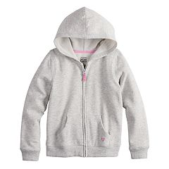 Girls 4-10 Jumping Beans® Glittery Heart Softest Fleece Hoodie