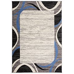 Nevada Modern Geometric Framed Rug