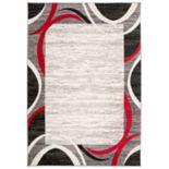 Nevada Modern Geometric Framed Rug