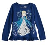 Disney's Frozen Elsa Girls 4-12 Sequin Graphic Top by Jumping Beans®