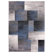 Nevada Modern Distressed Squares Rug