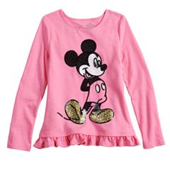 Disney's Mickey Mouse Toddler Girl Glitter & Sequin Graphic Top By Jumping Beans®