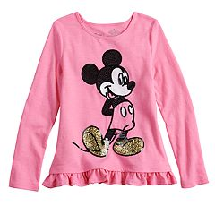 Disney's Mickey Mouse Girls 4-12 Glitter & Sequin Graphic Top By Jumping Beans®